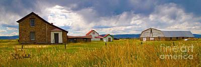 Wyoming Prairie Scene Poster