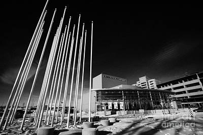 prairie wind sculpture outside the remai arts centre Saskatoon Saskatchewan Canada Poster by Joe Fox