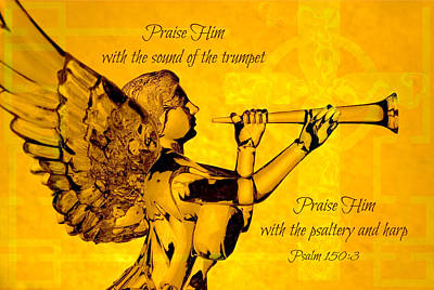 Praise Him With The Trumpet Psalm Poster