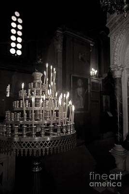 Poster featuring the photograph Prayer Candles by Aiolos Greek Collections