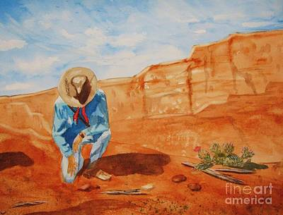 Poster featuring the painting Prayer For Earth Mother by Ellen Levinson