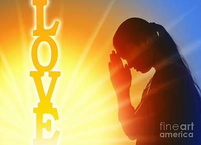 Prayer Of Love Poster by Tim Gainey