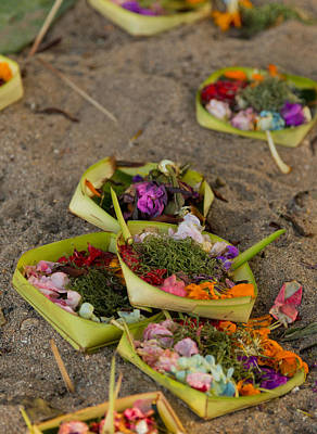 Prayer Offerings - Bali Poster