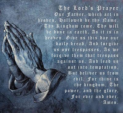 Praying Hands Lords Prayer Poster