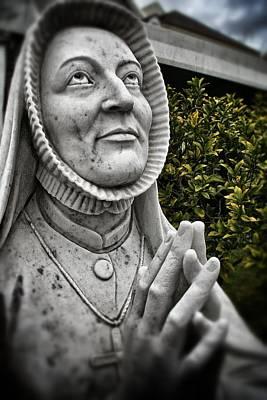 Praying Nun Statue Poster