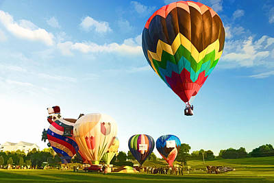 Poster featuring the photograph Preakness Balloon Festival by Dana Sohr