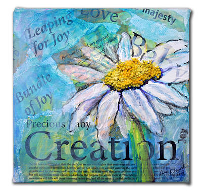Poster featuring the painting Precious Baby Creation by Lisa Fiedler Jaworski
