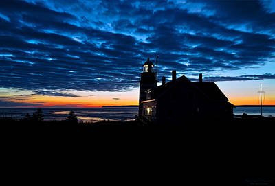 Predawn Light At West Quoddy Head Lighthouse Poster by Marty Saccone