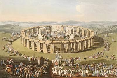 Prehistoric Festival At Stonehenge Poster