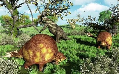 Prehistoric Mammals Poster
