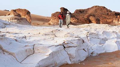 Prehistoric Saharan Lake Deposits Poster