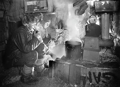 Preparing Dog Food In Antarctica Poster