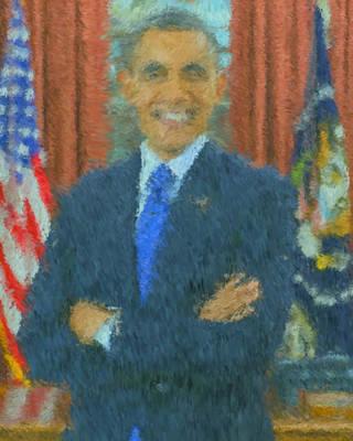 President Barack Obama Poster by John Dunigan