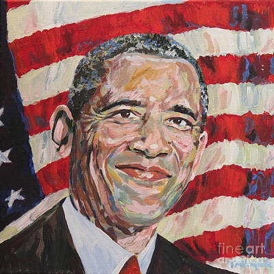 President Barack Obama Portrait Poster by Robert Yaeger