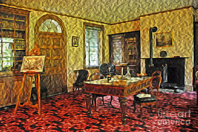 President Buchanans Home Office Poster by Paul W Faust -  Impressions of Light