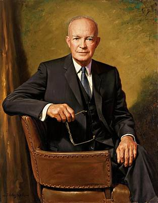 President Dwight D. Eisenhower By J. Anthony Wills Poster