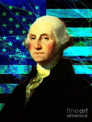 President George Washington V2 P138 Poster by Wingsdomain Art and Photography
