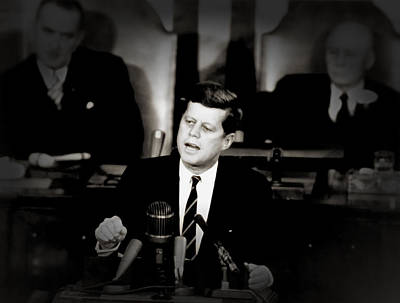 President Kennedy Addressing Congress 1961 Poster by Mountain Dreams