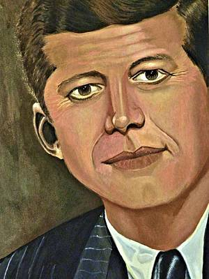 President Kennedy Poster by Victoria Rhodehouse