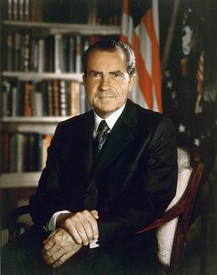 President Richard Nixon In An Official Poster by Everett