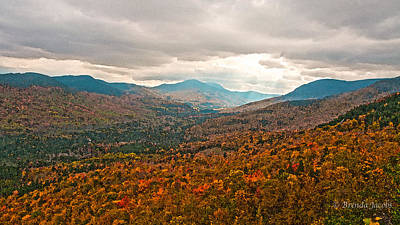 Presidential Range In Autumn Watercolor Poster by Brenda Jacobs