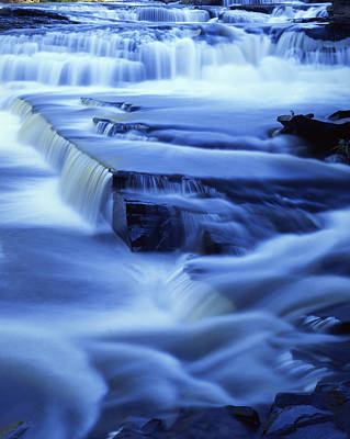 Presque Isle Falls Poster by Ray Mathis