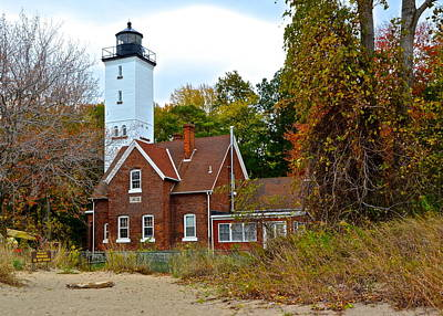 Presque Isle Lighthouse Poster by Frozen in Time Fine Art Photography