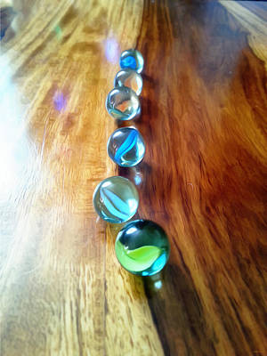Pretty Marbles All In A Row Poster by Isabella F Abbie Shores FRSA