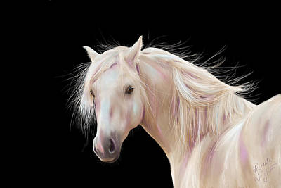 Pretty Palomino Pony Painting Poster