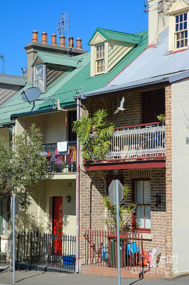 Pretty Terrace Houses In Sydney - Australia Poster