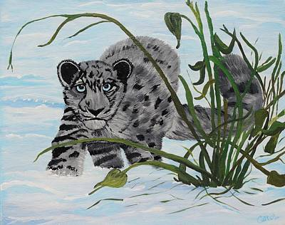 Preying In The Snow Poster by Carol Hamby