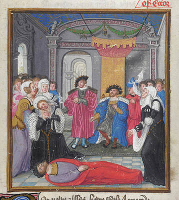 Priam And Court Mourn Hector Poster