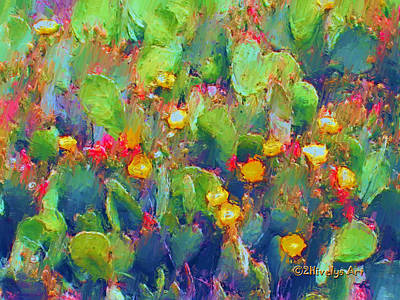 Prickly Pear Painting Poster by Methune Hively