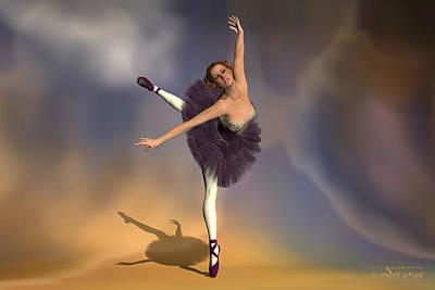 Prima Ballerina Georgia Attitude On Pointe Pose Poster by Andre Price