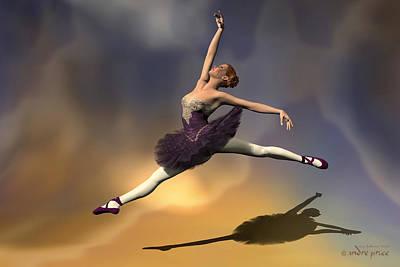 Prima Ballerina Georgia Grand Jete Pose Poster by Andre Price