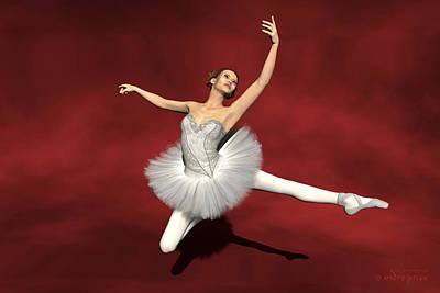 Prima Ballerina Kiko Jete Leap Pose Poster by Andre Price
