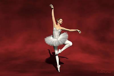 Prima Ballerina Kiko Pirouettes Pose Poster by Andre Price