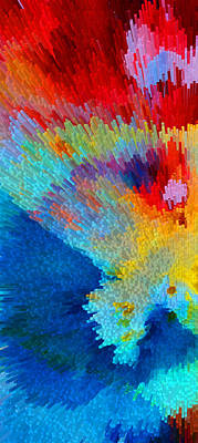 Primary Joy - Abstract Art By Sharon Cummings Poster