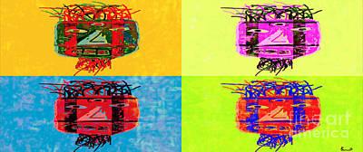Primitive Visage Quartet Poster by J Burns