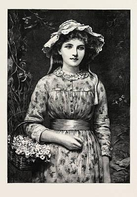 Primrose Day, Girl Poster by English School