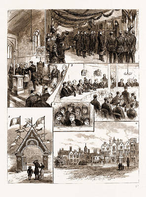 Prince Leopolds Visit To Colchester, And The Installation Poster by Litz Collection