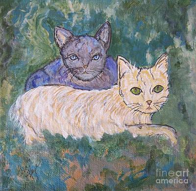 Princess Cat And Her Shadow Poster by Ella Kaye Dickey