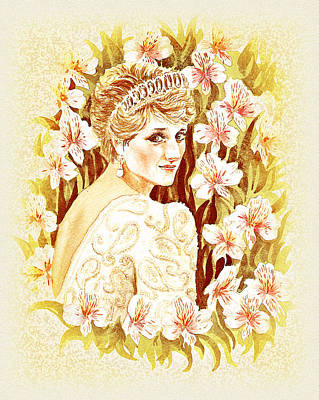 Poster featuring the painting Princess Diana by Irina Sztukowski