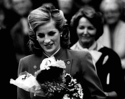 Princess Diana With Flowers Poster by Retro Images Archive