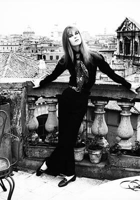 Princess Marina Wolkonsky On A Balcony In Rome Poster