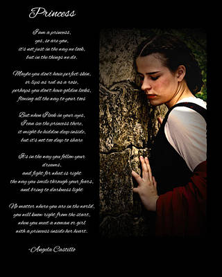 Princess Poem Poster by Cherie Haines