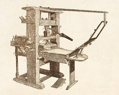 Printing Press Poster by David Parker