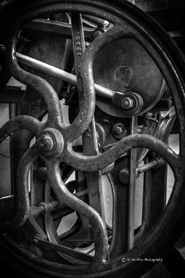 Printing Press Flywheel Poster by Al Griffin