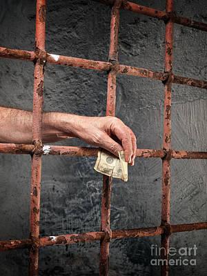 Prison Corruption Poster by Sinisa Botas
