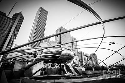 Pritzker Pavilion In Black And White Poster
